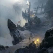 Snow Mountain by Ling Xiang Concept Art (cropped and used without permission)