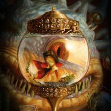 The Xanathar peers upon his pet goldfish.